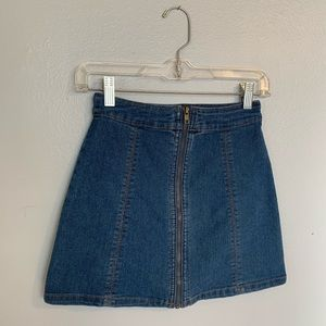 Denim miniskirt (slightly worn)